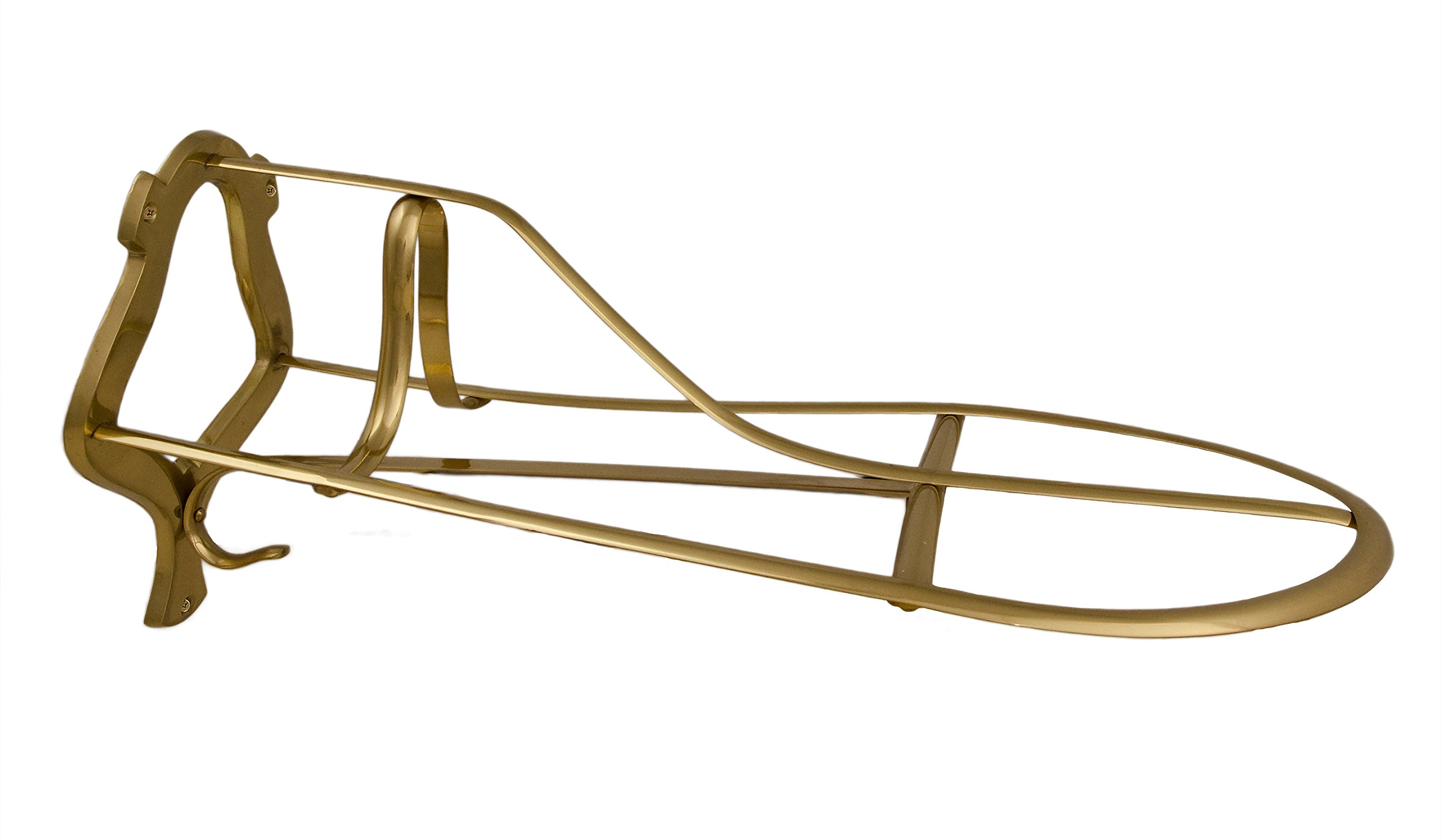 Tack Room Studio Brass Saddle Rack (Brass)