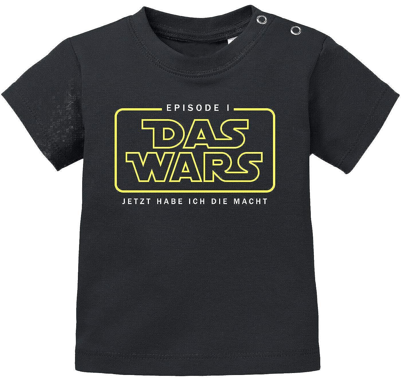 MoonWorks/® Baby T-Shirt Kurzarm Babyshirt Das Wars ab jetzt hab ich die Macht Episode 1 Jungen M/ädchen Shirt