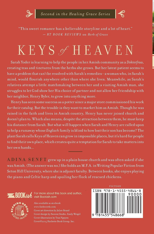 Keys of Heaven: A Healing Grace Novel: Adina Senft: 9781455548668:  Amazon.com: Books