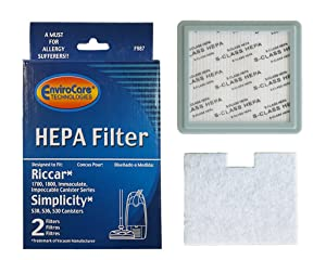 EnviroCare 1 Riccar 1700 1800#RF-17 Simplicity #SF-I3 S Class HEPA Allergen Filter Canister Vacuum