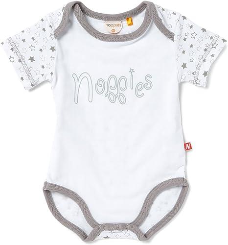 Noppies - Body blanco de 95% algodón 5%EA, talla: 62cm (3-6 meses ...