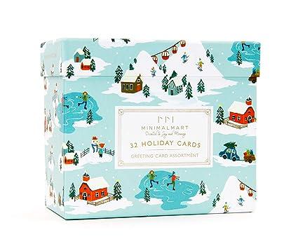 Amazon.com: Tarjetas de felicitación navideñas de Navidad ...