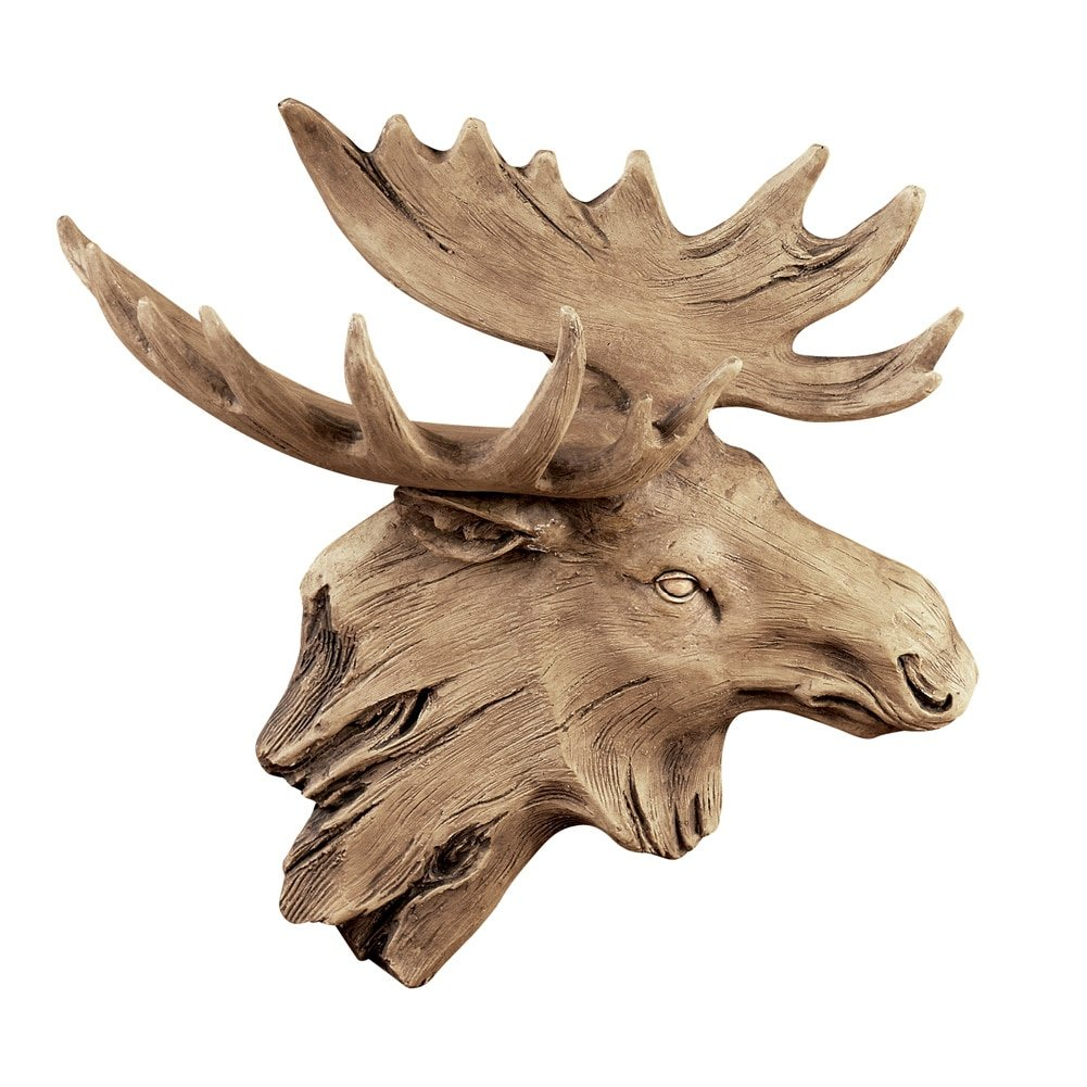 Collections Etc Moose Weathered Hanging Wall Plaque