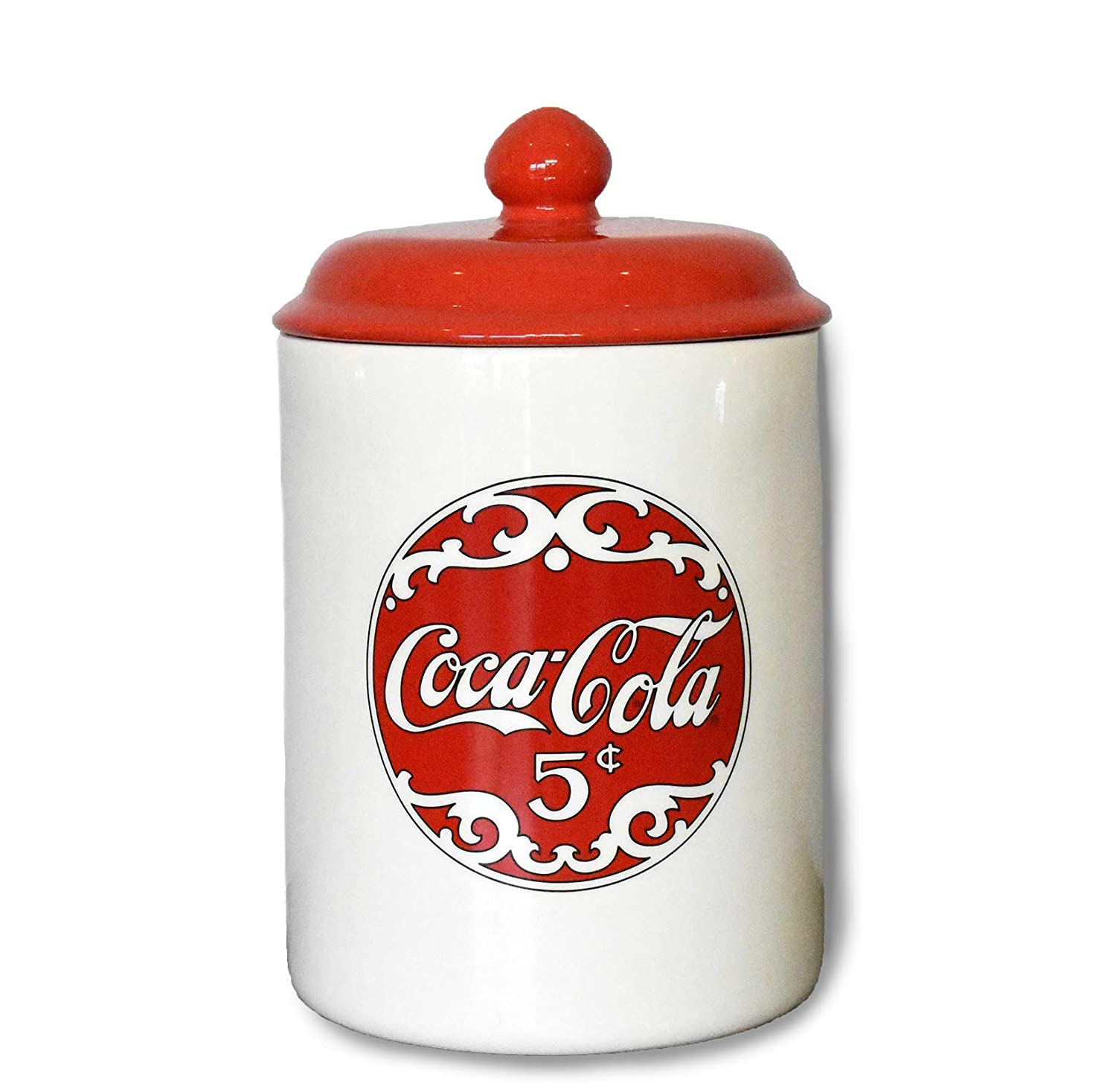 youngs Inc Ceramic Coca Cola Cookie Jar, Multi
