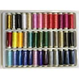 39 Assorted Color 200 Yard Per Unit Advanced Polyester Sewing Thread Spool Set