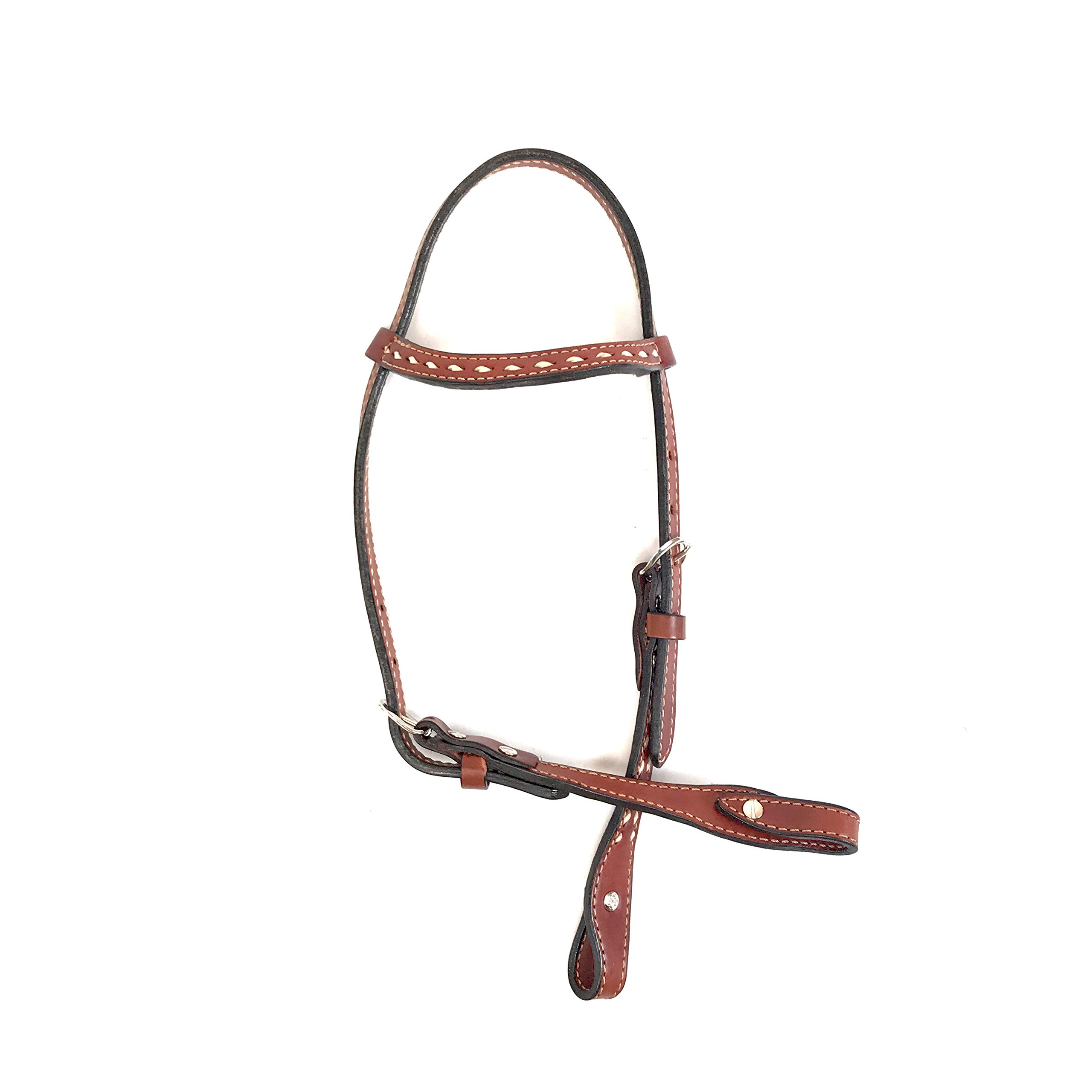 Alamo Saddlery LLC Rancher Supply- 'One Eared Headstall w/Toast Leather'