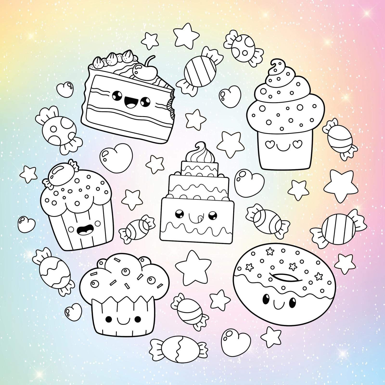 Mein buntes Kawaii-Malbuch: Der Trend aus Japan: Süße Ausmalbilder