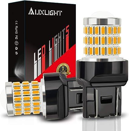 JDM ASTAR 2835 7440 7441 7443 7444 992 T20 W21  LED Turn Signal Light Bulbs Red