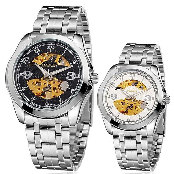 Único Mecánica Relojes Weiguan impermeable Negocios automática: Amazon.es: Relojes