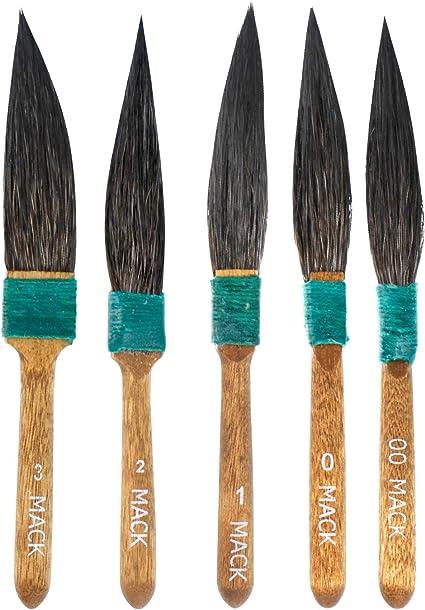 Amazon Com Mack Dagger Pinstripe Pinstriping 5 Brush Set 30 Series