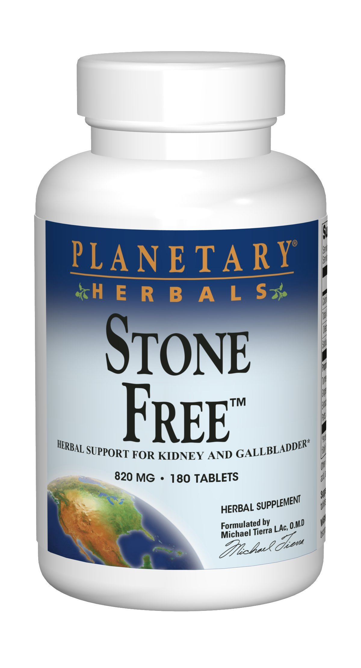 Planetary Herbals Stone Free 820mg, Herbal Support for Kidney and Gallbladder, 180 tablets