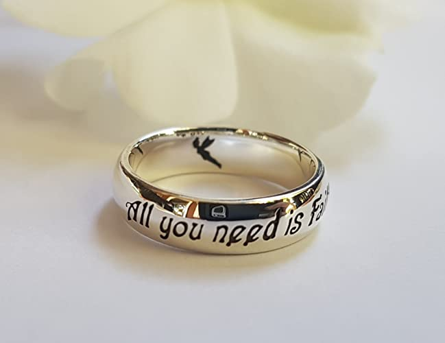 peter pan quote ring jm barrie quote peter pan quote 925 sterling silver