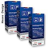 3x Bosch TCZ6002 Entkalkungstabletten für Kaffeevollautomaten TCA 5, TCA 6, TCA 7, TCC7, TES 70