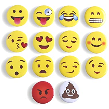 Refrigerator Magnets Fridge Magnets Emoji Magnets, Mymazn Office Magnets WhiteBoard Magnets Cute Dry Erase Board Magnetic for School Home Decorative Cute Fun Smiley Face Magnets