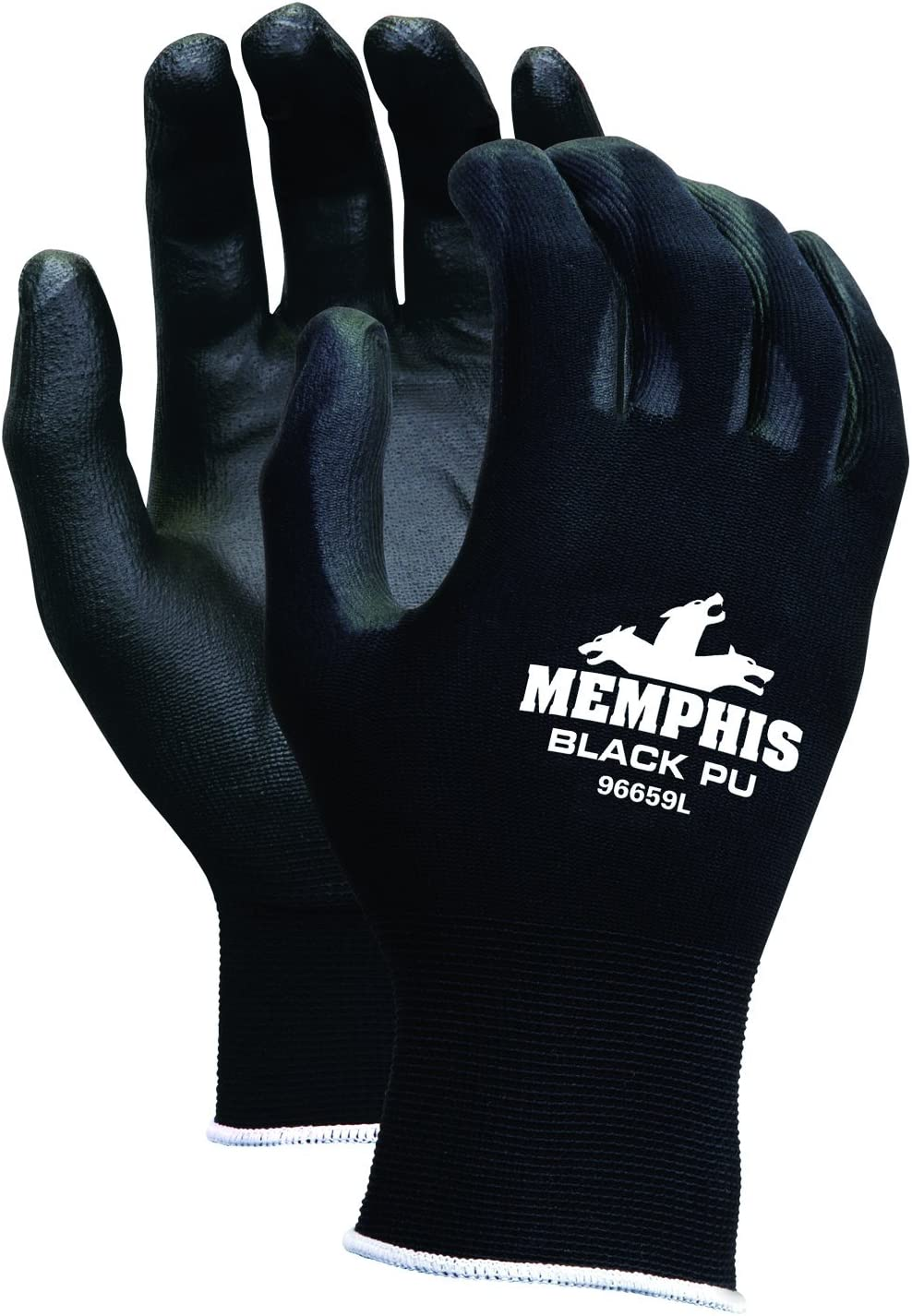 MCR SAFETY 9669L Coated Gloves, Smooth Finish, L, PR