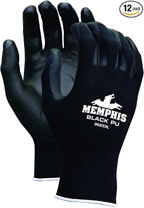 MCR SAFETY 9669L Coated Gloves, Smooth Finish, L, PR