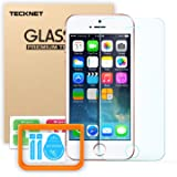 iPhone SE/5S/5 Tempered Glass Screen Protector, TeckNet [3D Touch Compatible] Tempered Glass Screen Protector with Paste Installation Tool For Apple iPhone SE/5S/5 with 9H Hardness and 96% Transparency