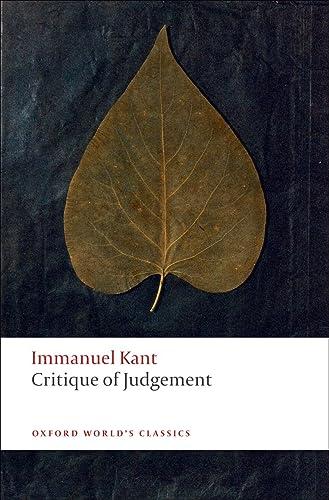 Critique Of Judgement Pdf