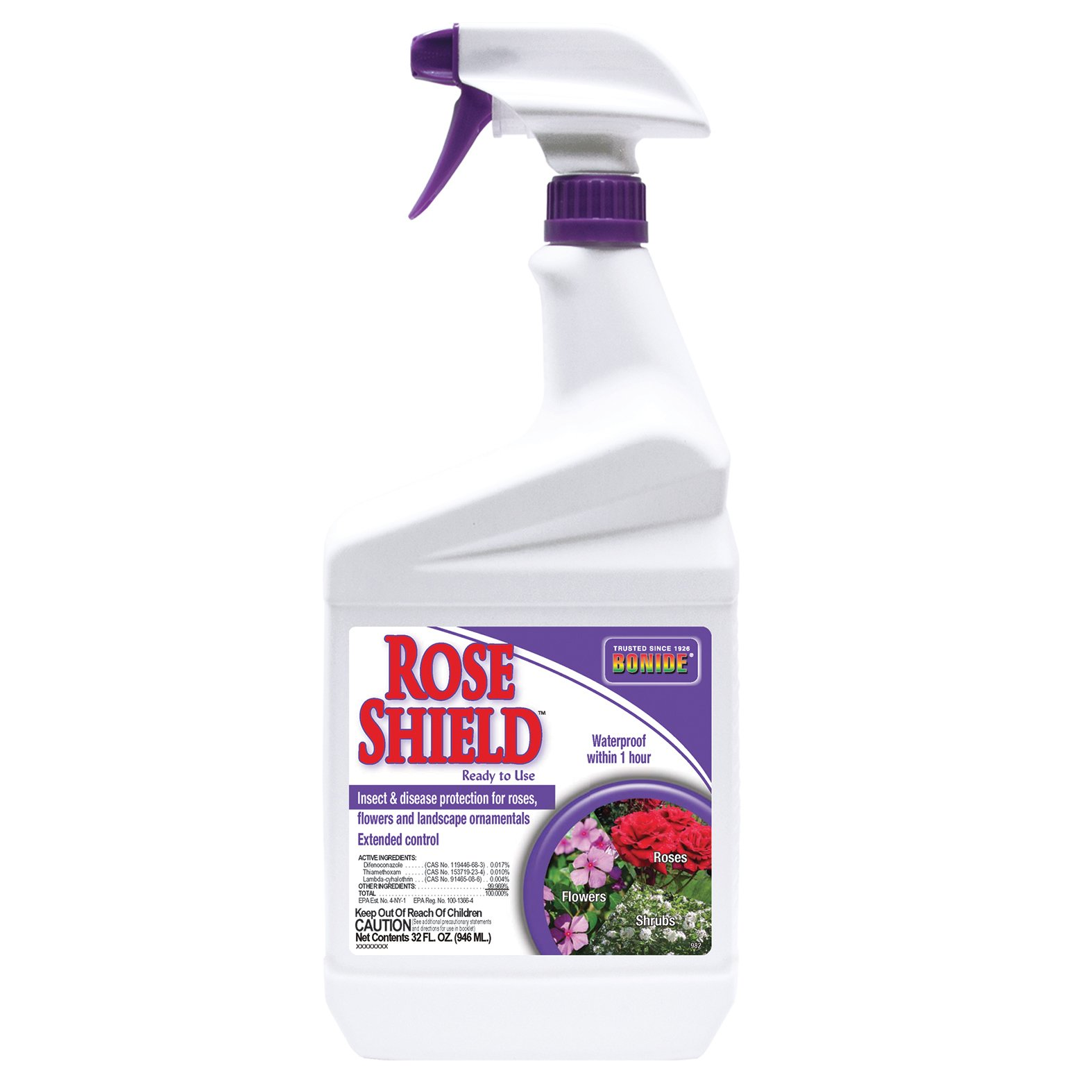 Bonide Chemical 982 037321009825 RTU Rose Shield, 1-Quart, 1, Brown/A by Bonide