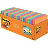 Post-it Super Sticky Notes, 3x3 in, 24 Pads, 2x the Sticking Power, Rio de Janeiro Collection, Bright Colors (Orange, Pink, B