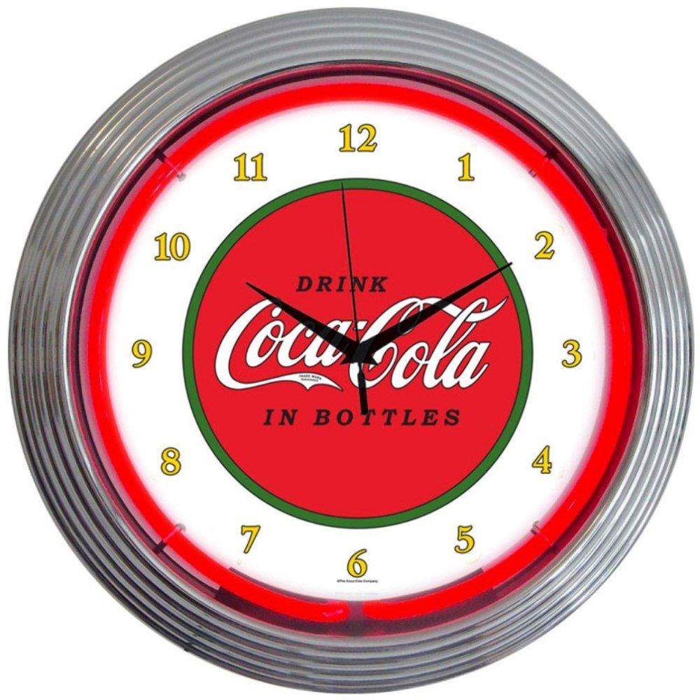 Coca Cola 1910 Classic Neon Wall Clock, 15-Inch