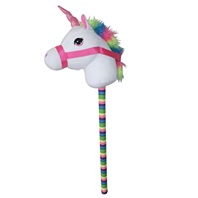Ponyland White Unicorn 68 cm Stick Horse with Sound: Toys & Games