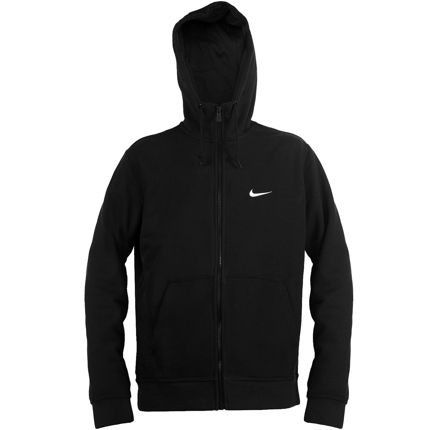 16a2c89ed Galleon - Nike Men's Club Swoosh Full-Zip Hoodie, Black, Medium