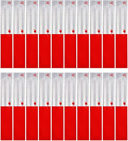 """3M 6 STRIPS  3/"""" x 8/"""" RED HIGH INTENSITY PRISMATIC REFLECTIVE CONSPICUITY TAPE"""