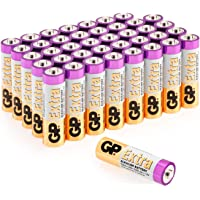 AA Batteries Pack of 40-1.5V / Mignon / LR06 / MN1500/ AM3 by GP Batteries AA Extra Alkaline Batteries ideal for: Toys/Controllers/Torch/Mouse Suitable for everyday use in a variety of devices