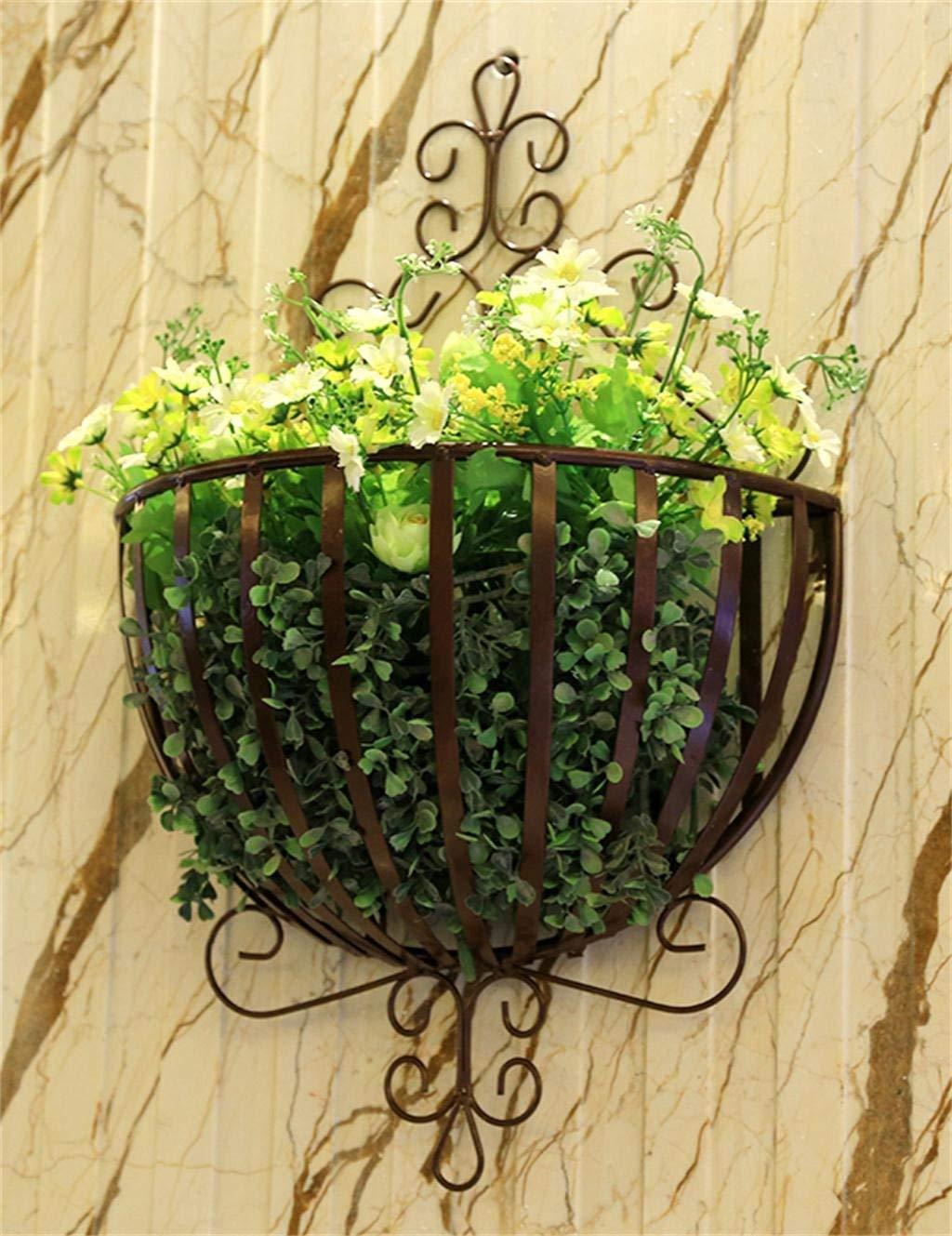ガーデンフラワーポットラックホームフラワースタンド耐久性のある植物ラック リビングルームのバルコニーL * H / 34 * 53 cm、白に適した金属製のフラワースタンド (色 : Black) B07PCRTDBH Black