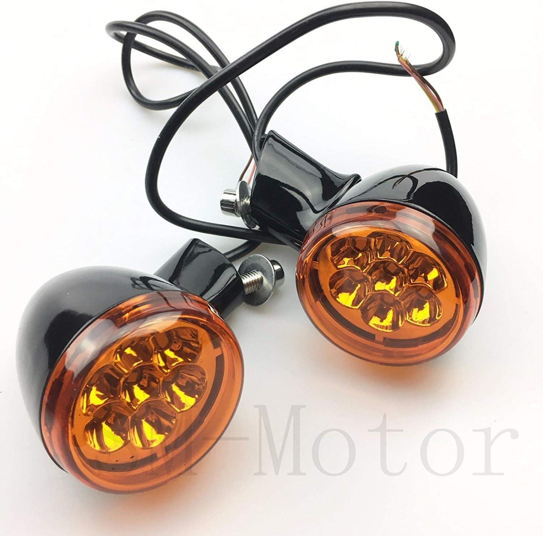 Soporte de luz LED de se/ñal de giro frontal para Harley Touring Electra Street Glide