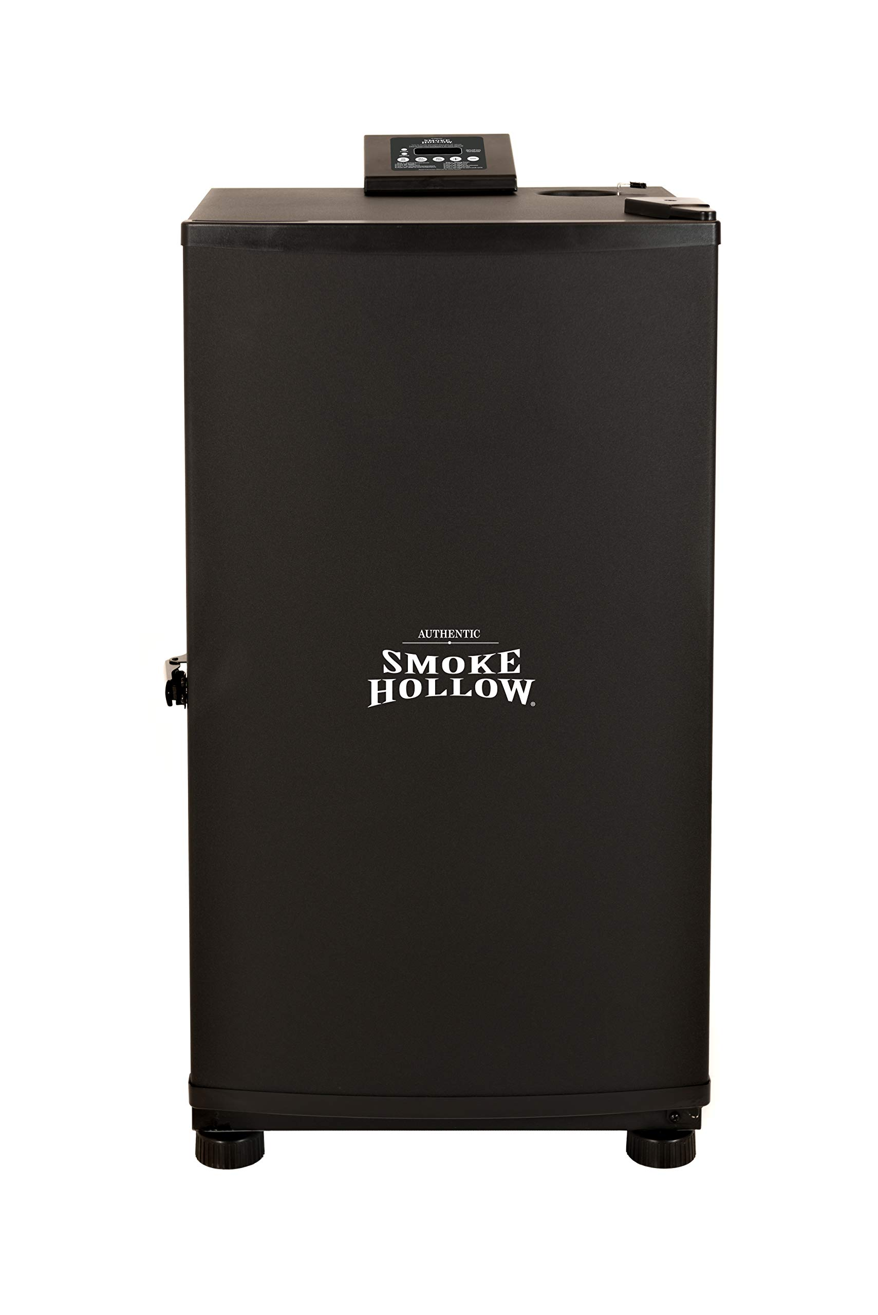 Masterbuilt SH19079518 Smoke Hollow Digital Electric Smoker, Exterior: 17.8 in. H x 16.3 in. W x 19.3 in. L Interior:13.8 in. H x 12.6 in. W x 11.9 in. L, Black by Masterbuilt