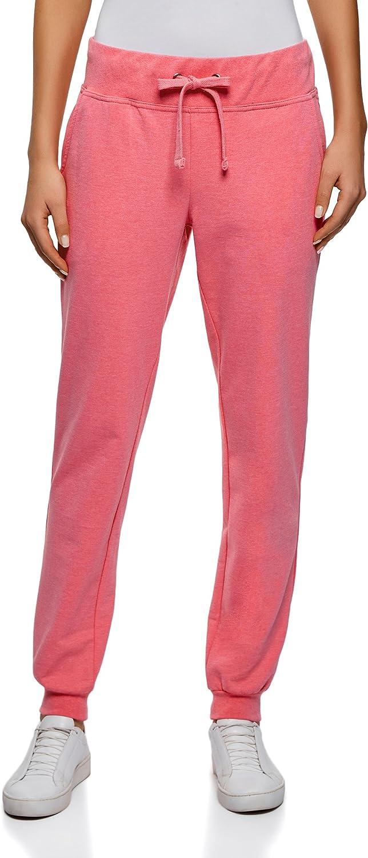 oodji Ultra Mujer Pantalones de Punto (Pack de 2), Rosa, ES 44 ...