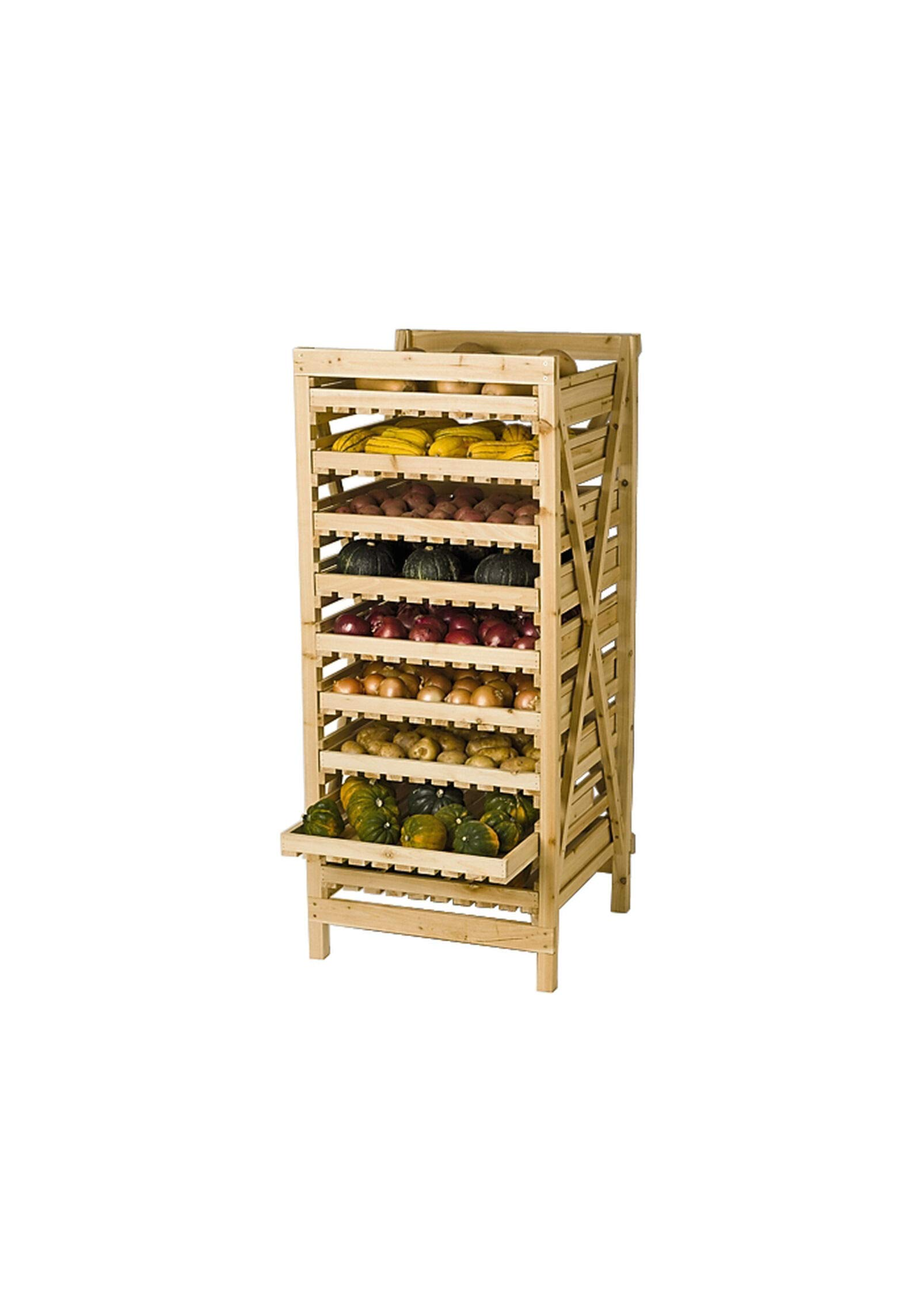Orchard Rack, Garden Harvest Rack, Large 9 Drawer by Gardener's Supply Company