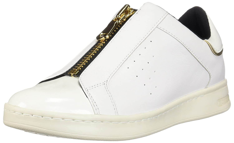 Geox D Jaysen a, Zapatillas sin Cordones para Mujer 36 EU Blanco (White C1000)