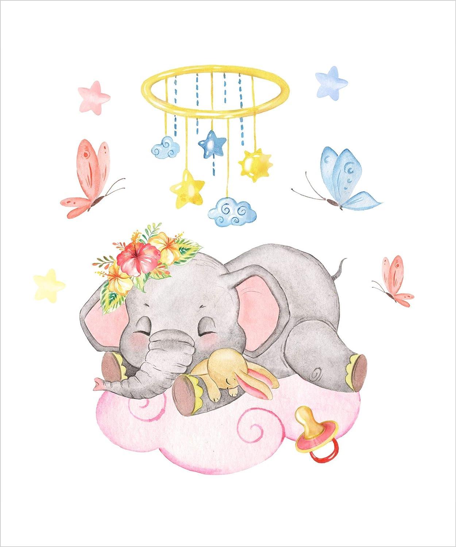 Desconocido Estor Enrollable Infantil Personalizable Basic Elefante ni/ña /¡ESTORES Infantiles ENROLLABLES TRANSLUCIDOS 100x175