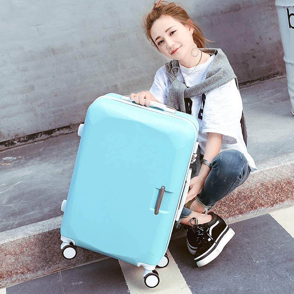 Simple and Stylish Trolley Case Large Capacity 26 Inch Adjustable Suitcase Set HUANGA Luggage Color : Blue, Size : 22 inches