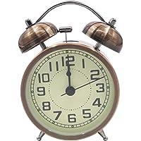 EASEHOME Doble Campanas Reloj Despertador de Cuarzo Analógico