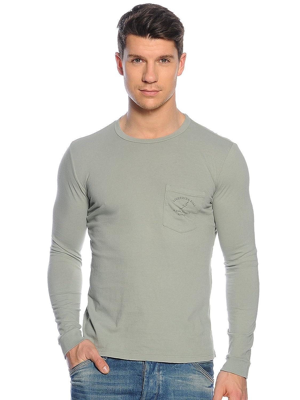 L.Bolt Pure Source Hawaii L S Tee Seagrass Shirt, Herren, Grün, M