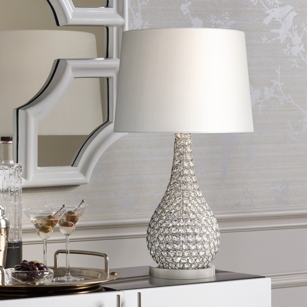Possini Euro Kasey Crystal Beaded Gourd Table Lamp - - Amazon.com