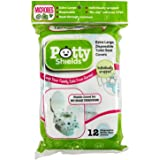 Toilet Seat Covers- Disposable XL Potty Seat Covers by Potty Shields (Set of 12 Individually Wrapped) - Extra-Large…