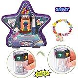 ZUBAT DIY Unicorn Bracelet Kit Exploding Dice Magic Toy, Square Beads, Pentacle Beads, Sparkling Gemstones, Colored Round Beads, Create Special Bracelet, Magic Toy for Kids Age 5+