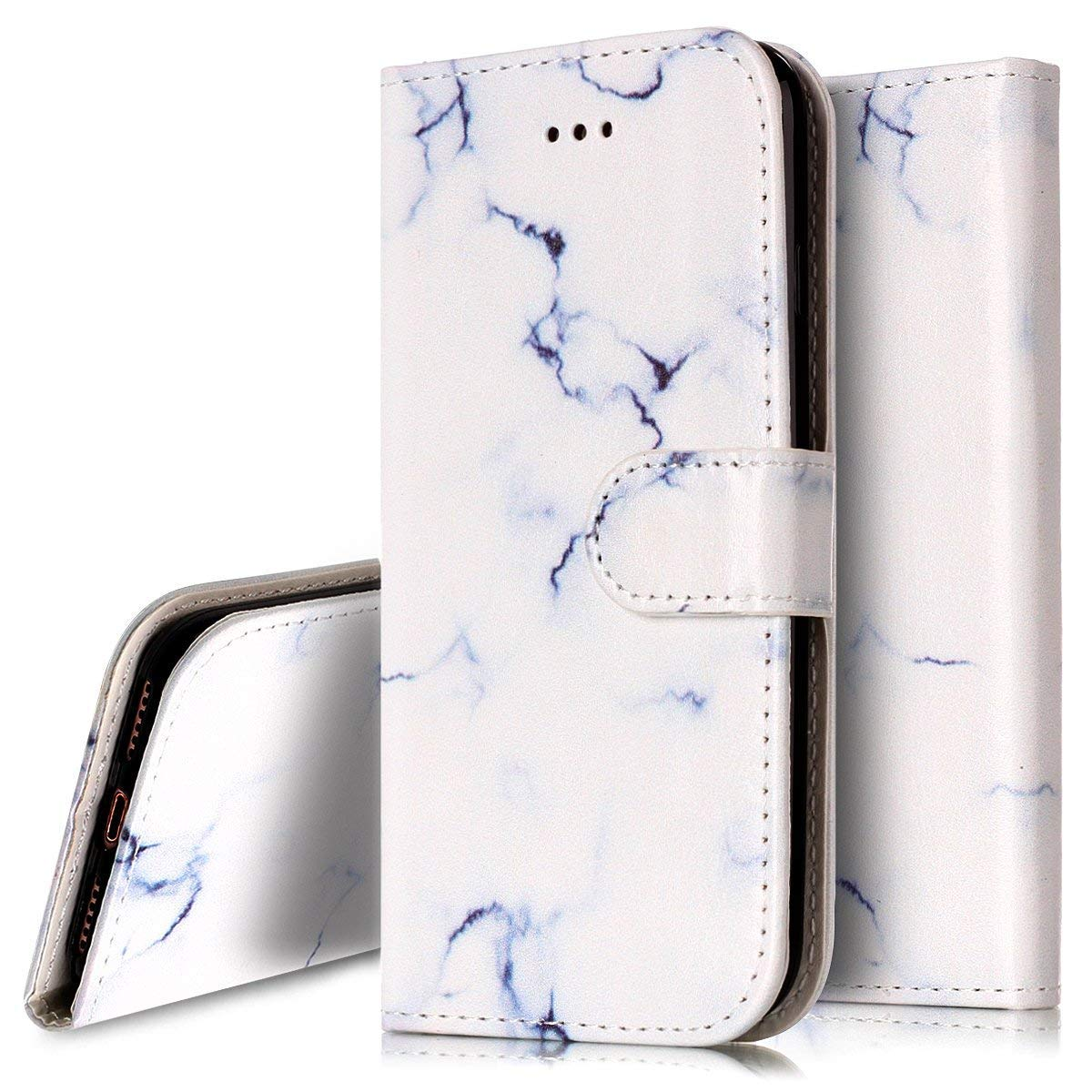 PHEZEN Case for LG Stylo 5 LG Stylo 5 PlusWallet Case,Marble Design PU Leather Bookstyle Magnetic Stand Flip Folio Case Full Body Protective Phone Case Cover for LG Stylo 5 Pink Flower