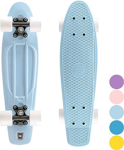 "Xootz PP Skateboard-Rose pastel 22/"""
