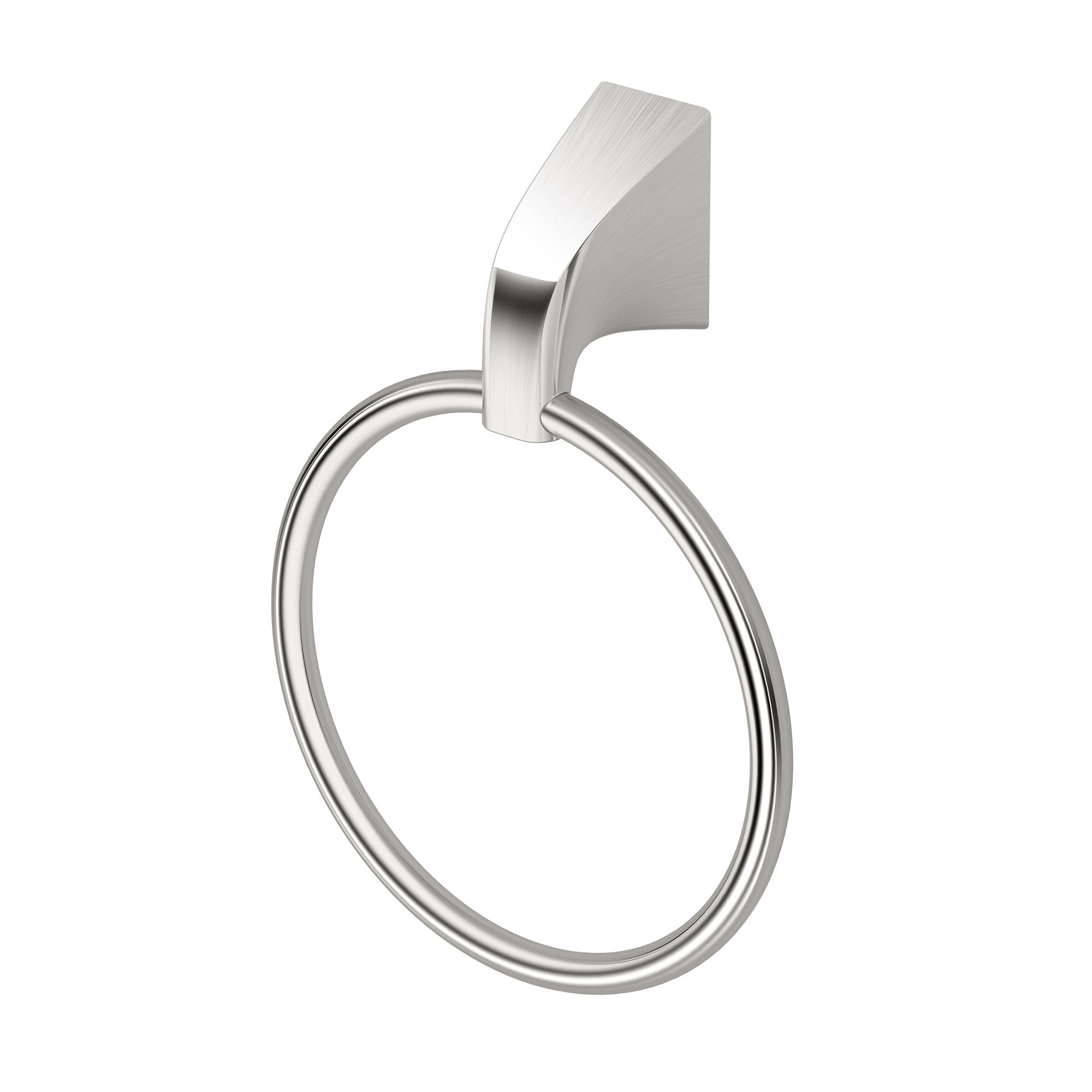 Gatco 5182 Quantra Bathroom Towel Ring, Satin Nickel