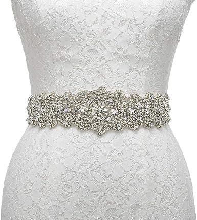 Aw Bridal Wedding Dress Belts Rhinestone Belt Bridal Belt Crystal Rhinestone Jeweled Belt For Evening Party Prom Bridesmaid Dress At Amazon Women S Clothing Store