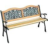 """Outsunny 50"""" Decorative Outdoor Garden Park Bench Seat"""