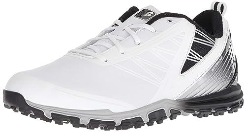 03b6373341086 New Balance Men's Minimus SL Waterproof Spikeless Comfort Golf Shoe White/ Black