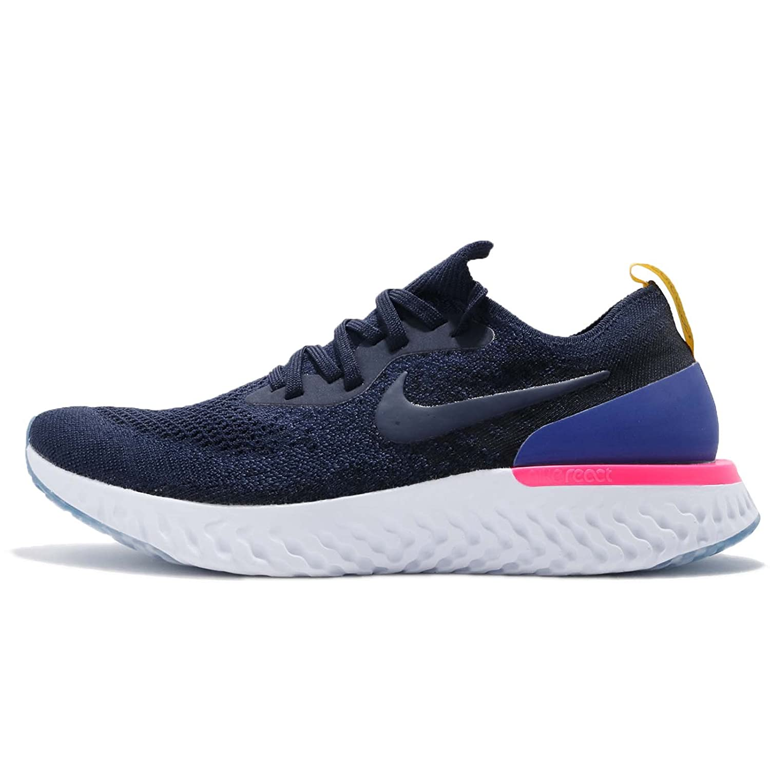 29a09e3683847 NIKE Epic React Flyknit Women s Pink Mesh Running Shoes -7 US 38 EU 4.5 UK   Buy Online at Low Prices in India - Amazon.in
