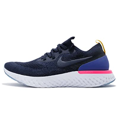 Nike Epic React Flyknit College Navy Blue AQ0067-400 Mens get Womens